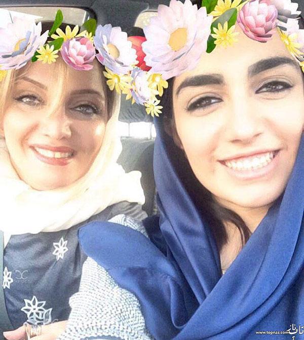 سلفی الهام پاوه نژاد با دخترش