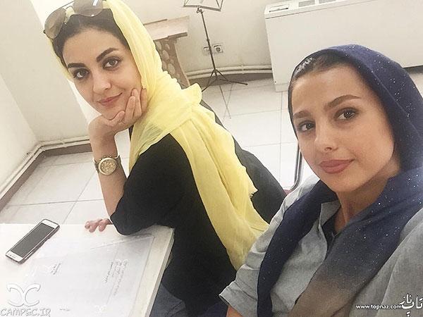 عکس سلفی جوانه دلشاد با لیلا ایرانی