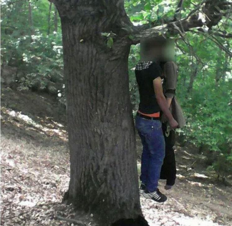 عکس خودکشی همزمان دختر و پسر در جنگل (18+)