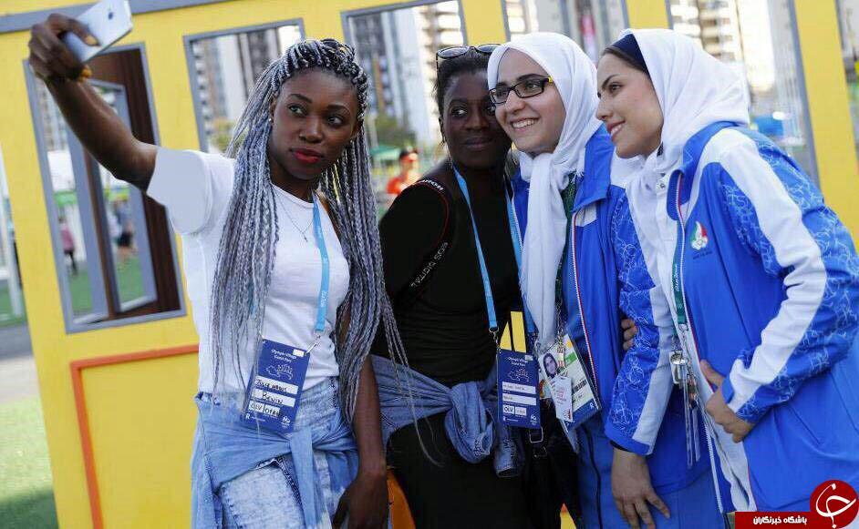 عکس سلفی دختر جذاب برزیلی در کنار دختران ورزشکار ایرانی المپیک