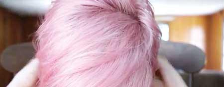 مدل رنگ مو صورتی پاستلی