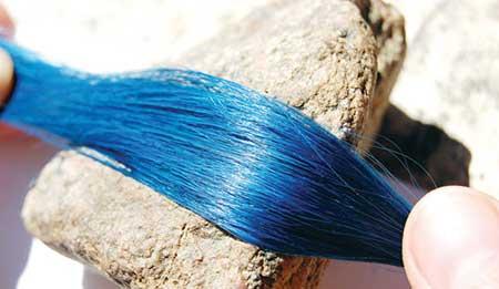مدل رنگ مو آبی جینی