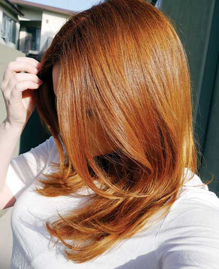 مدل رنگ مو بلوند توتفرنگی
