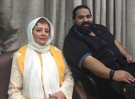 عکس جدید شراره رخام در کنار رضا صادقی