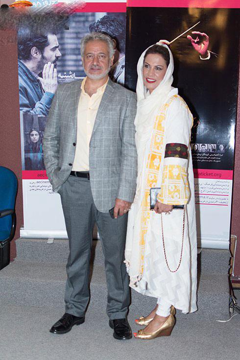 عکس های جدید مجید مشیری در کنار همسرش در مراسم اکران مستند