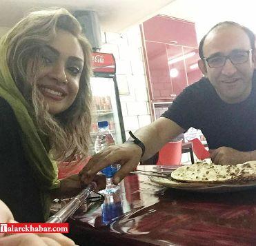 سلفی هدایت هاشمی و همسرش