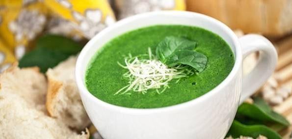 سوپ اسفناج کم کالری