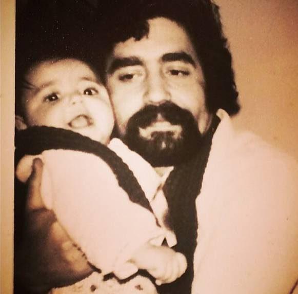 کودکی شقایق فراهانی در آغوش پدر