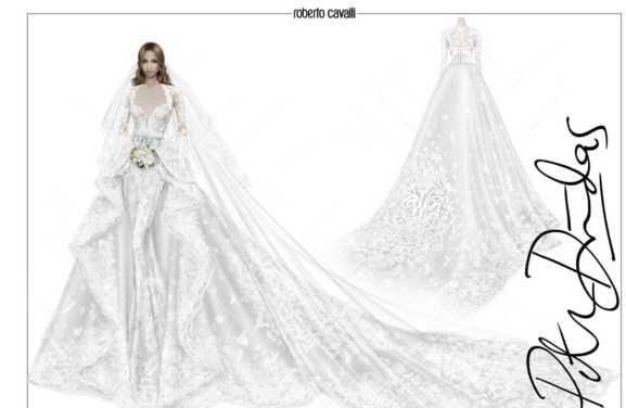 لباس عروس رویایی و خارق العاده سی یرا خواننده مشهور هالیوودی