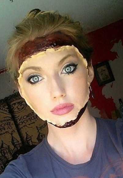 طراحی اعضای صورت با گریم