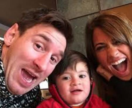 عکس سلفی شخصی مسی و همسرش