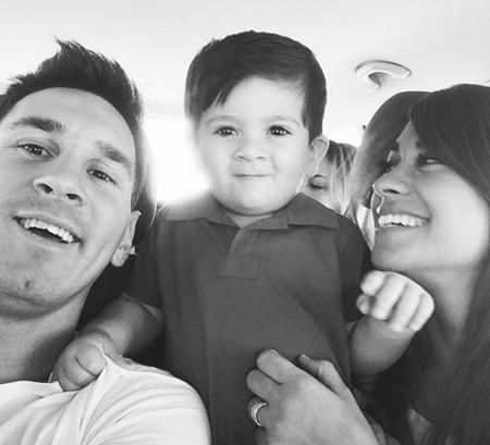 عکس جدید لیونل مسی و همسرش و فرزندش