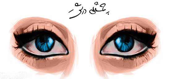 آرایش چشمان درشت