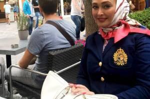 عکس از مدل لباس الهام حمیدی در کشور هلند و خارج ایران