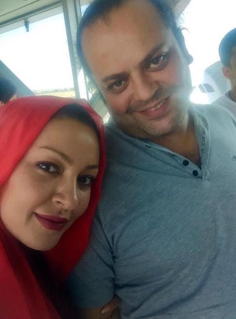 عکس زیبا بروفه در کنار همسرش پیام صابری