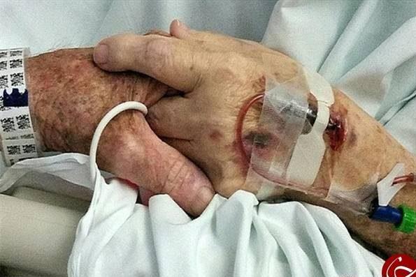 مرگ عاشقانه زن و شوهر دست در دست هم و با هم +عکس