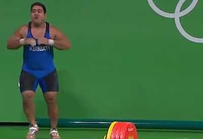 فیلم رقص و حرکات موزون و خنده دار یک ورزشکار در المپیک!