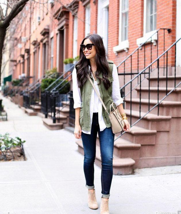 مدل لباس های به رنگ سبز ارتشی رنگ مد پاییزی شیک و زیبا
