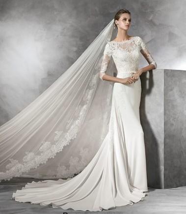 مدل لباس عروس آستین دار اروپایی, جدیدترین مدل لباس عروس های آستین دار گیپور و معمولی