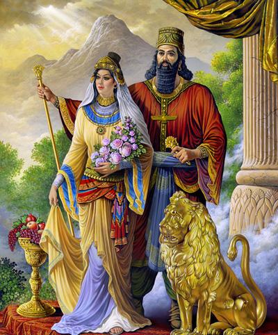 نقاشی همسر کوروش کبیر