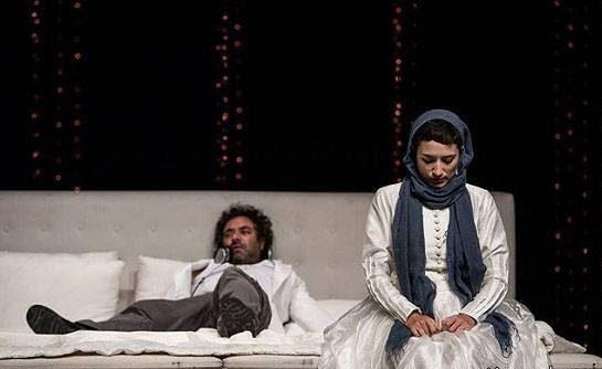 عکس نگار جواهریان و حسن معجونی در نمایش ایوانف