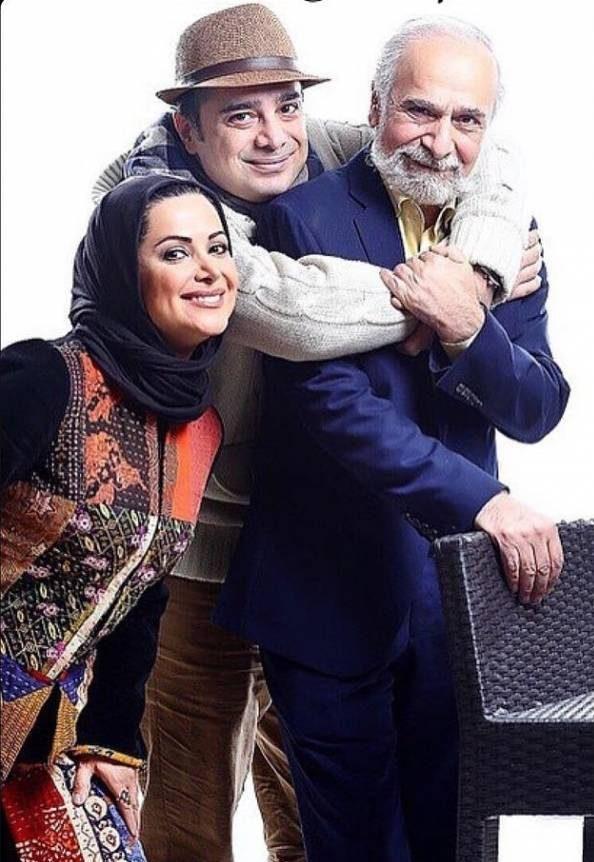 عکس کمند امیرسلیمانی و سپند و پدرشان سعید امیرسلیمانی
