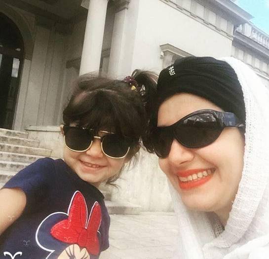 عکس های ملیکا زارعی و دخترش مانلی