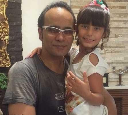 عکس خانوادگی شهرام شکوهی و دخترش