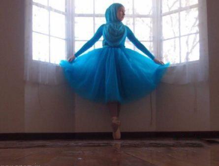 عکس های لو رفته از رقص باله دختر 17 ساله محجبه