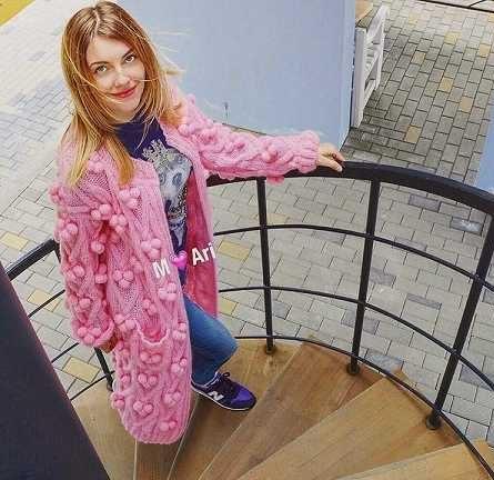 عکس مدل پالتو بافتنی جدید دخترانه 96