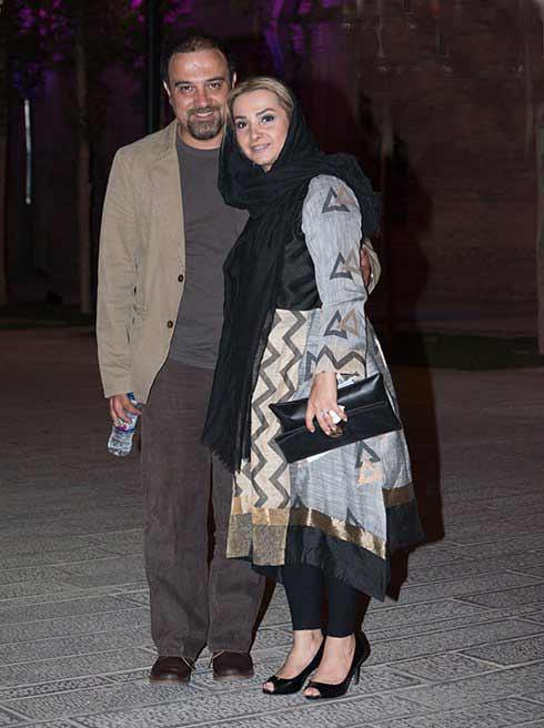 عکس برزو ارجمند و همسرش در جشن خانه سینما 95