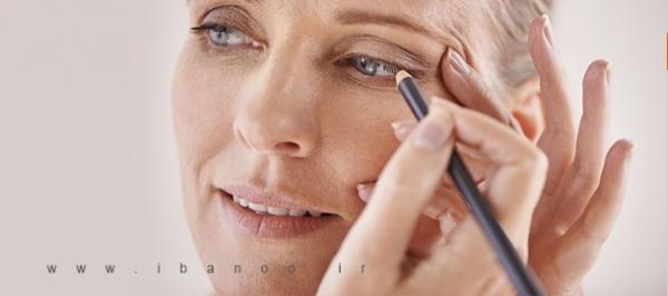 مدل آرایش چشم زنان میانسال که باعث جذابیت بیشتر می شود
