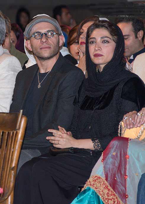 عکس بابک حمیدیان و مینا ساداتی در جشن خانه سینما