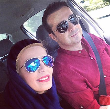 عکس سپند امیرسلیمانی و همسرش