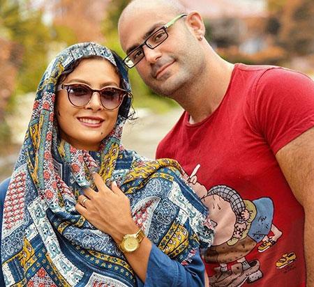 عکس حدیثه تهرانی و همسرش