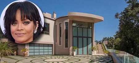 عکس های خانه گران قیمت و بسیار بزرگ ریحانا که شبیه به قصر است!