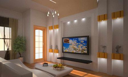 جدیدترین عکس های دکوراسیون tv room تی وی روم