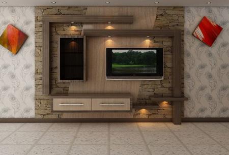 کناف سنگ تلویزیون جدیدترین عکس های دکوراسیون tv room تی وی روم