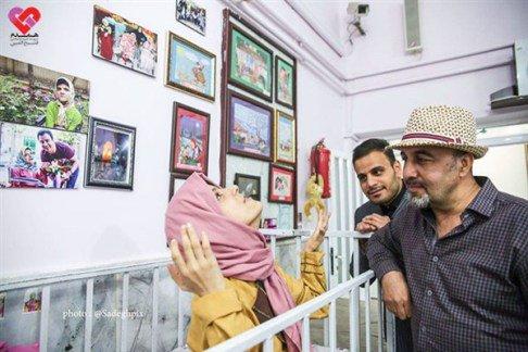 عکس های دیدار رضا عطاران با دختران بد سرپرست