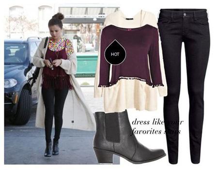 عکس های ست کردن لباس سلنا گومز Selena Gomez ویژه پاییز