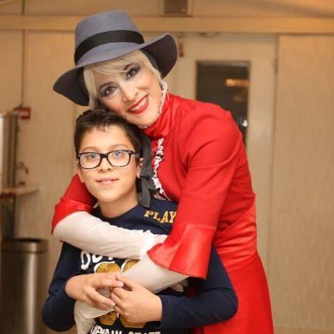 عکس جدید ویشکا آسایش بازیگر زن ایرانی در کنار پسرش گیو