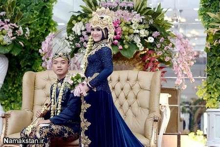 مدل ژست عروس و داماد برای عکس گرفتن در آتلیه