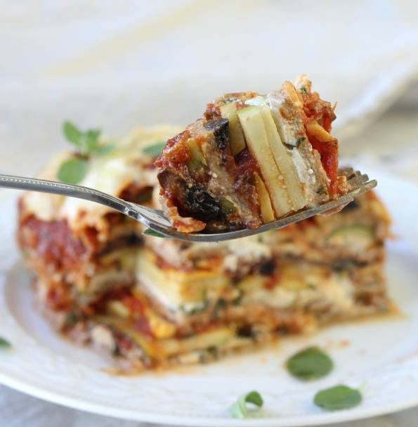 لازانیا سبزیجات با سس ریکوتا