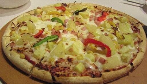 پیتزای سیب زمینی ژامبون