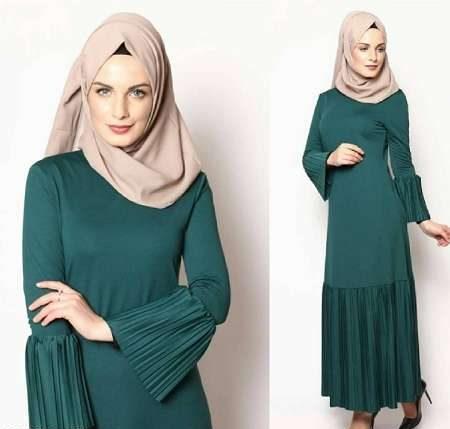 لباس مجلسی پوشیده کوتاه و بلند اسلامی طرح جدید شیک