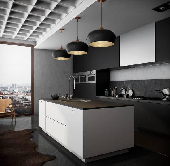طراحی و تزیین شیک دکوراسیون آشپزخانه با کابینت مشکی