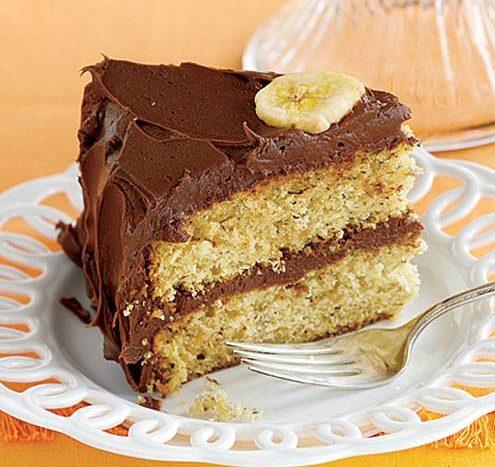 کیک موز و شکلات