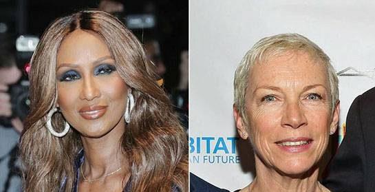 سوپر مدل ایمان و خواننده آنی لینوکس در سن 61 سالگی