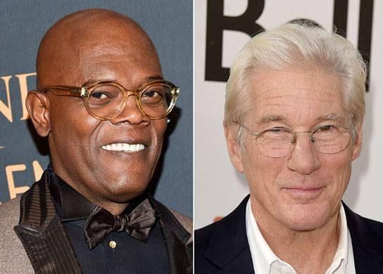 هنرپیشه ها سموئل ال جکسون و ریچارد گر در سن 68 سالگی