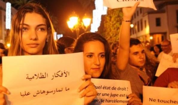 روش دختر عرب برای جلوگیری از آزار و اذیت جنسی در خیابان